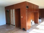 In process of office space, door into Master Bedroom.